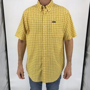 Chaps Yellow Button-Down Casual Shirt NWT